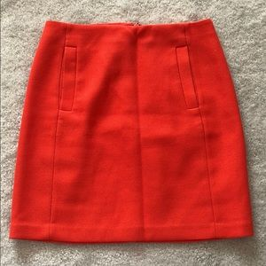 Banana Republic Orange Skirt (with pockets)